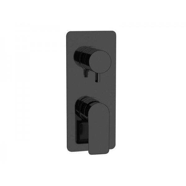 Baterie INFINITY BLACK podomítková páková, 2 funkce