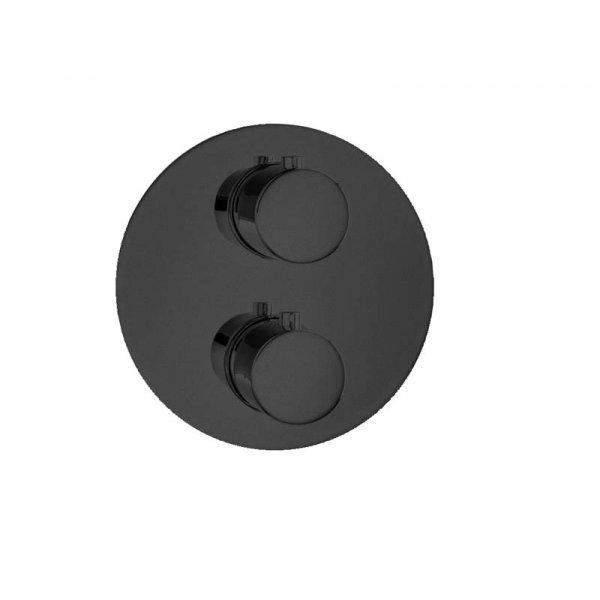 RONDO T BLACK baterie termostatická, 2 funkce