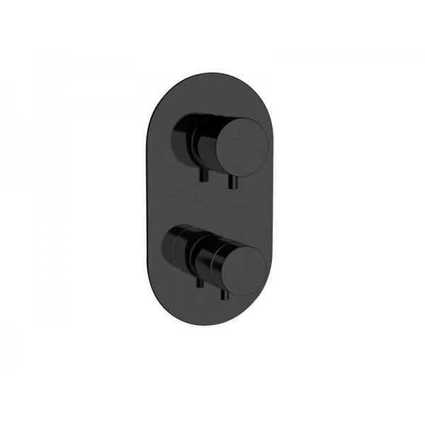 Baterie RONDO BLACK podomítková termostatická, 5 funkcí