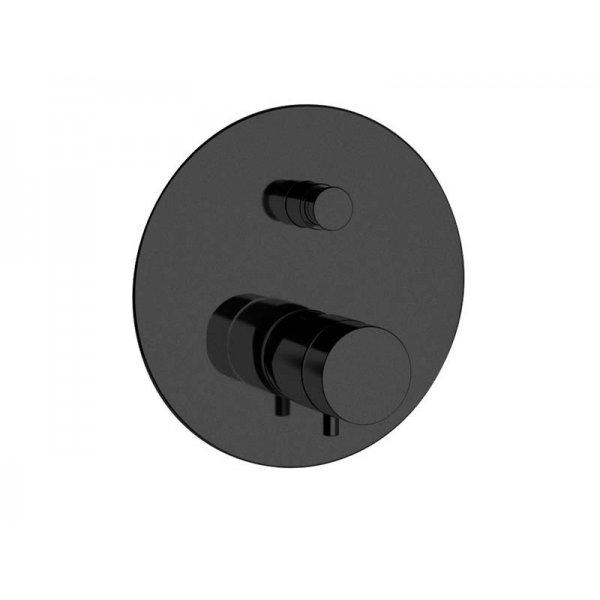 Baterie RONDO BLACK podomítková termostatická, 2 funkce