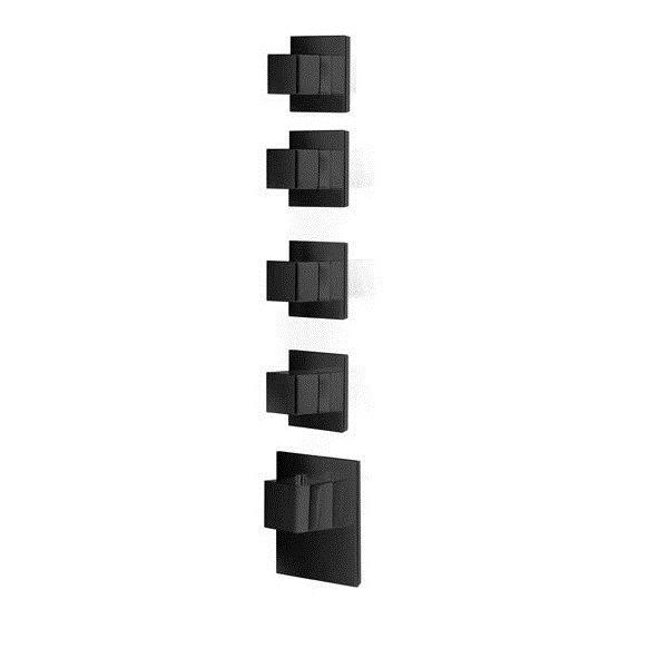 Baterie BLACK kryt SQUARE S, 4 funkce