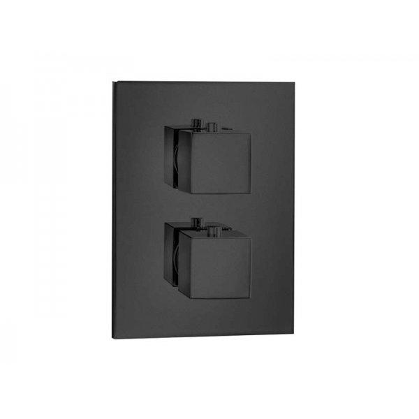 QUADRO T BLACK baterie termostatická, 3 funkce