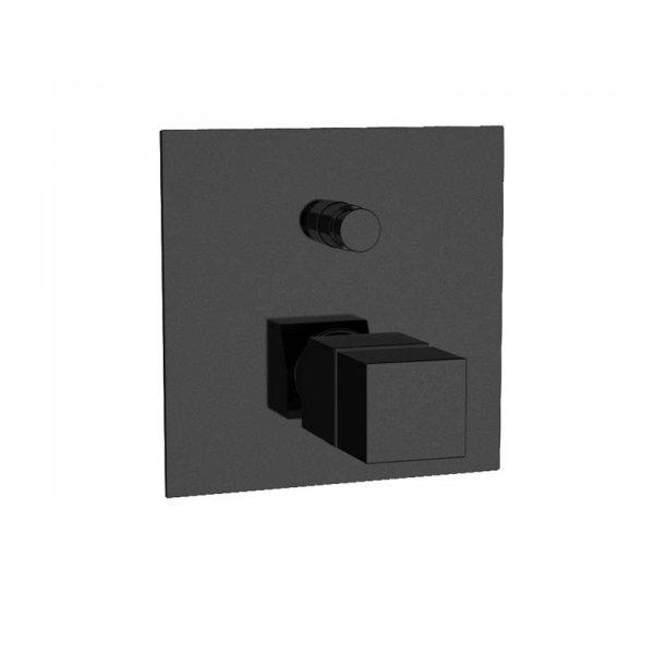 Baterie QUADRO BLACK podomítková termostatická, 2 funkce
