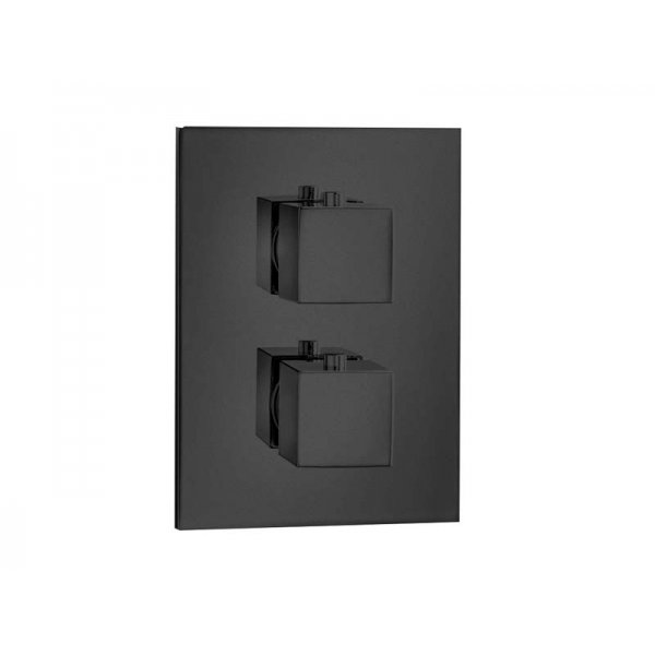 QUADRO T BLACK baterie termostatická, 2 funkce