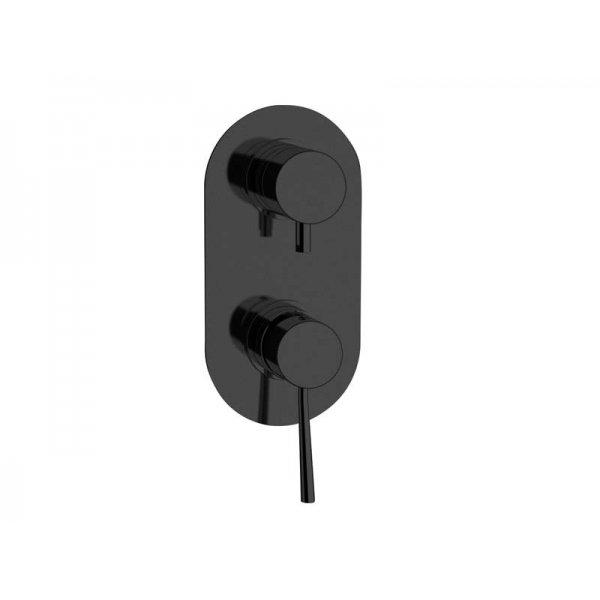Baterie RONDO BLACK podomítková páková, 2 funkce