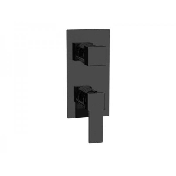 Baterie QUADRO BLACK podomítková páková, 2 funkce