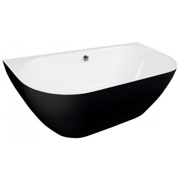 PAGODA volně stojící vana 170x85 cm černá/bílá