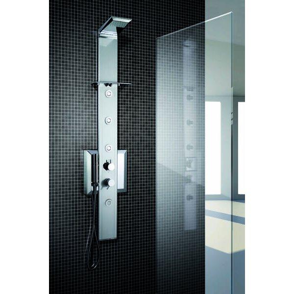 PRISMA 140, sprchový panel rohový, termostatická baterie