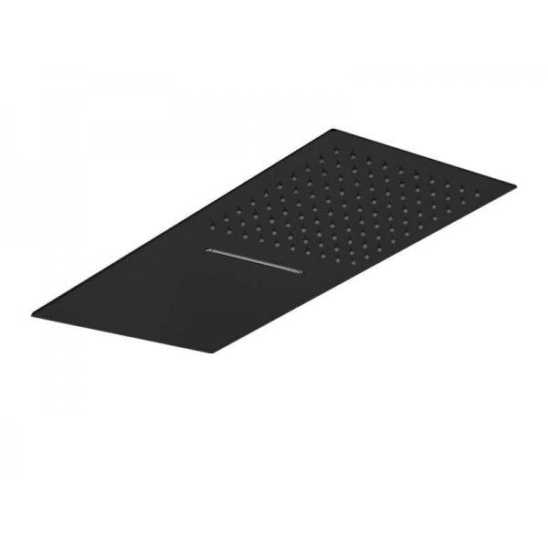 Sprcha FLAT BLACK s vodopádem 50x25 cm