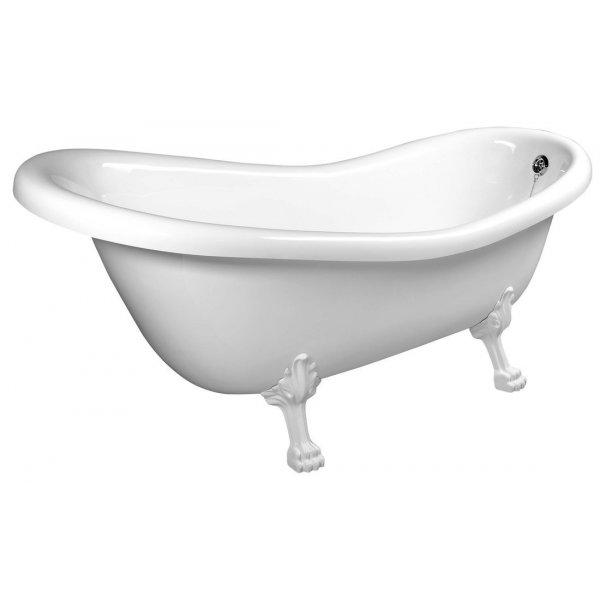 RETRO volně stojící vana 158x73x72 cm, nohy bílé, bílá