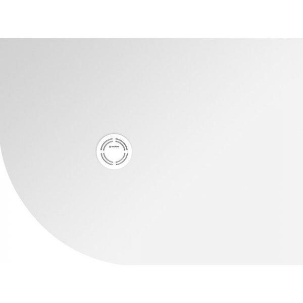 FLEXIA vanička z litého mramoru čtvrtkruh, s možností úpravy rozměru, 90x80x2,5cm, R550, pravá