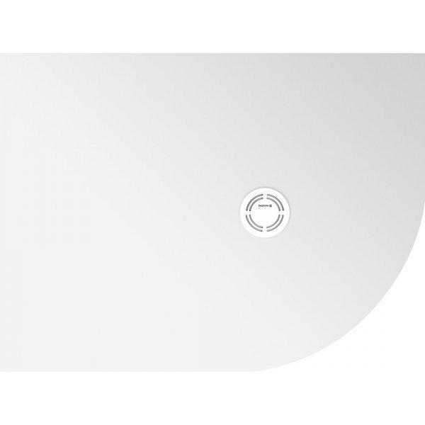 FLEXIA vanička z litého mramoru čtvrtkruh, s možností úpravy rozměru, 100x90x2,5cm, R550, levá
