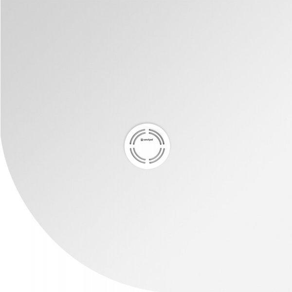 FLEXIA vanička z litého mramoru s možností úpravy rozměru, čtvrtkruh 90x90 cm, R55