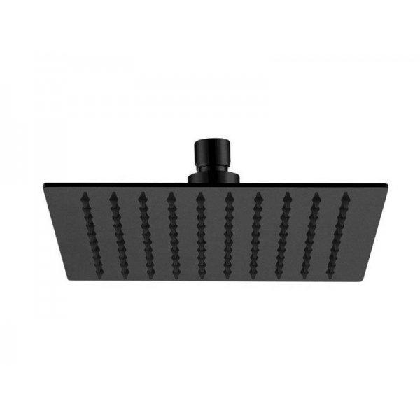 Sprcha čtverec FLAT BLACK 25x25 cm