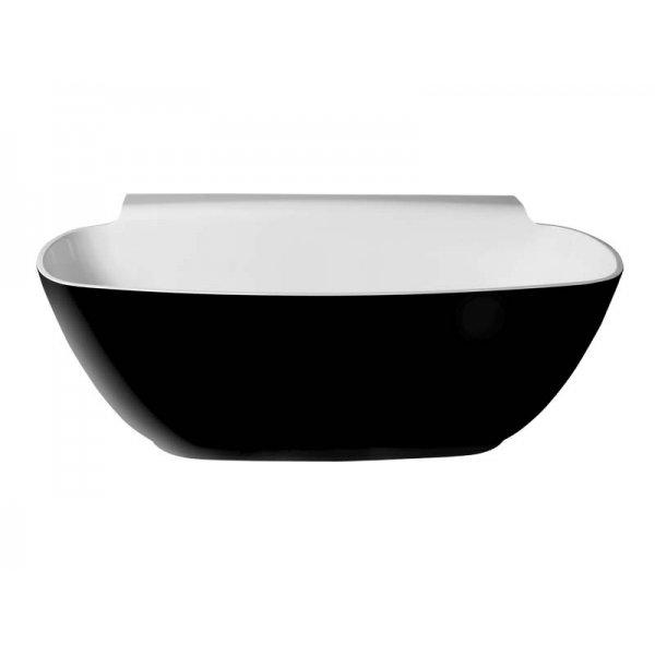 NIGRA volně stojící vana 158x80 černá/bílá