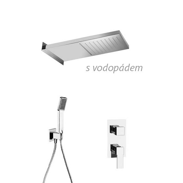 Sprchový set QUADRO DUAL 56x26 cm