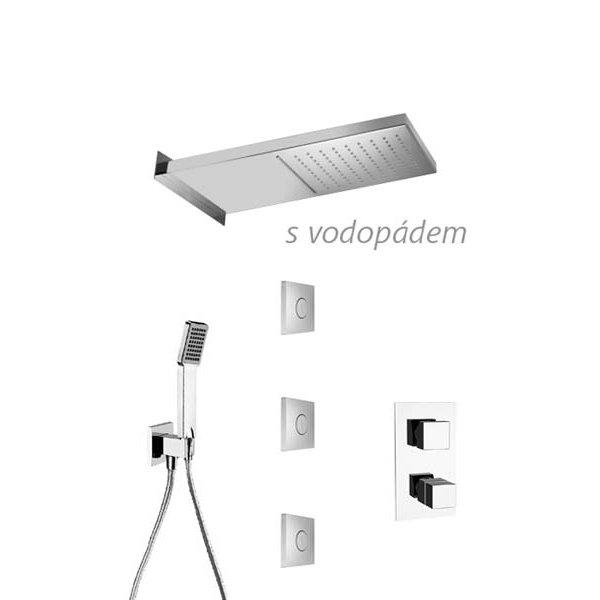 Sprchový set QUADRO DUAL JET 50x20 cm