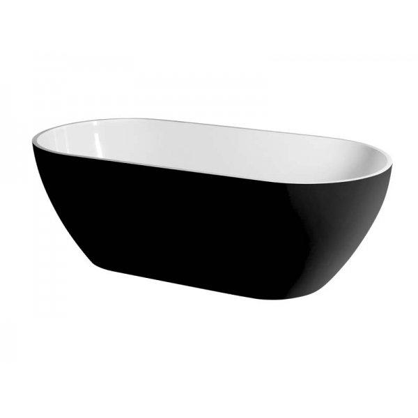 REDUTA volně stojící vana 150x75 černá/bílá