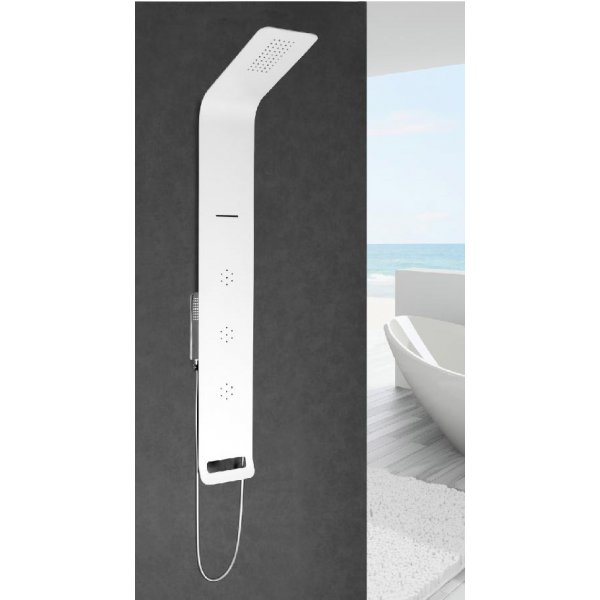 ASTREA sprchový panel s pákovou baterií, bílá mat