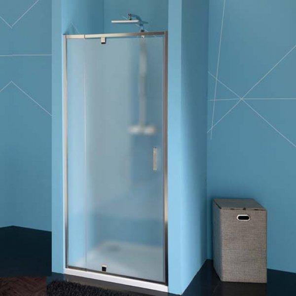 Otočné dveře do niky EASY LINE 76-90 cm, sklo BRICK