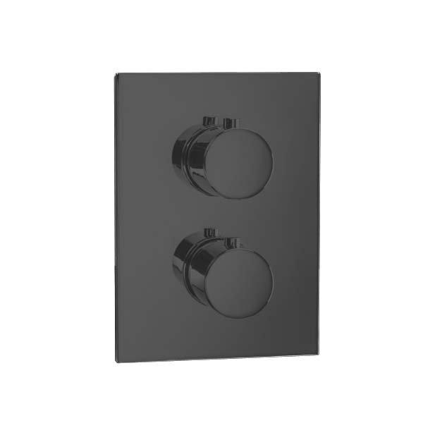BLEND T BLACK baterie termostatická, 2 funkce