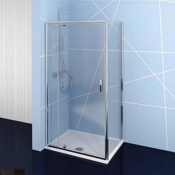 Obdélníková zástěna EASY LINE 76-90x80 cm (otočné dveře + boční stěna)