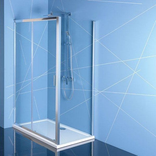 Obdélníková zástěna EASY LINE 100x80 cm (dveře + boční stěna)