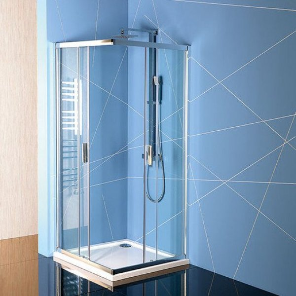 Čtvercová zástěna EASY LINE 100x100 cm (dveře + boční stěna)