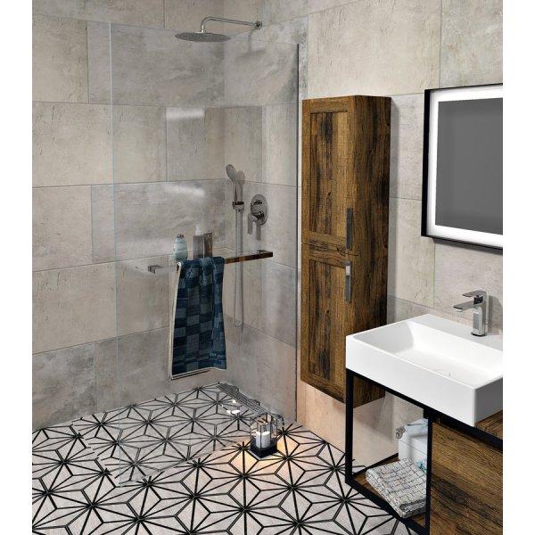 Sprchová zástěna ARCHITEX LINE podlaha-stěna (s otvory pro poličku) 90x200 cm