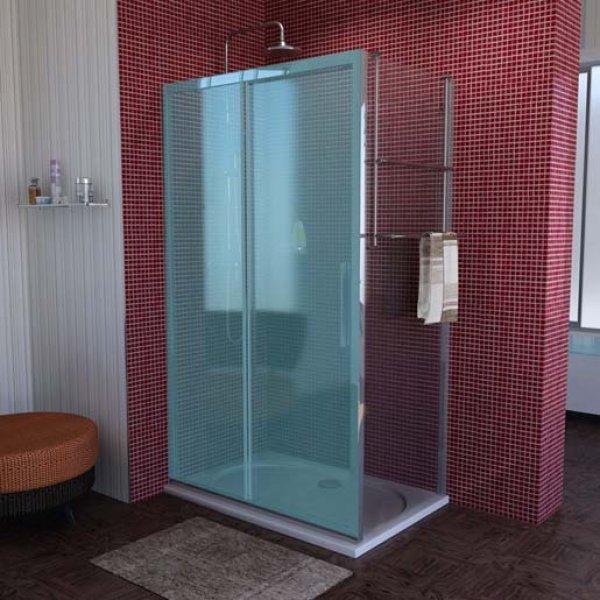 sprchová boční stěna LUCIS LINE 100 cm, čiré sklo