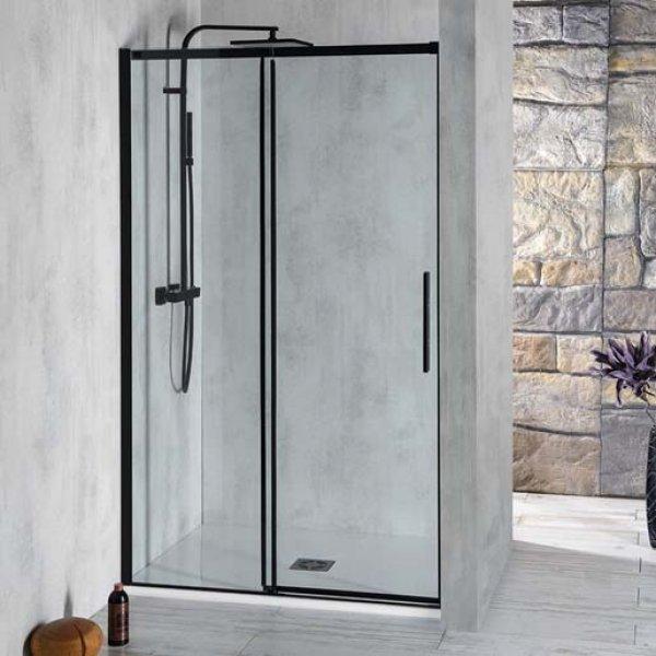 posuvné dveře do niky ALTIS LINE BLACK 150-150 cm
