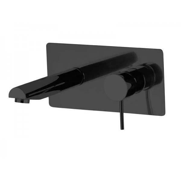 Baterie RONDO BLACK umyvadlová ze zdi