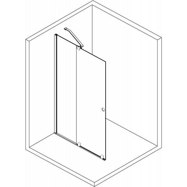 MODULAR SHOWER zástěna s výsuvným panelem, 1200 mm