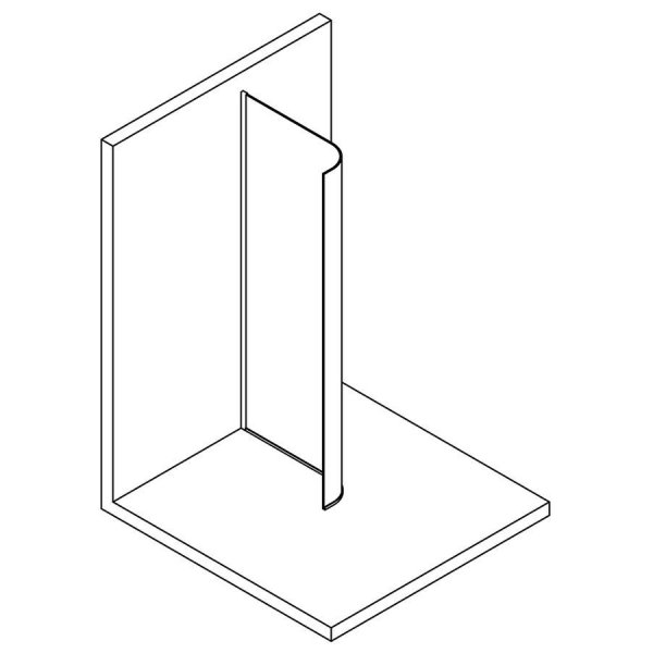MODULAR SHOWER pevná zástěna s radiusem R550, 90 cm