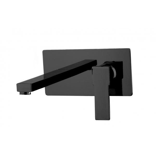 Baterie umyvadlová QUADRO BLACK ze zdi prodloužená