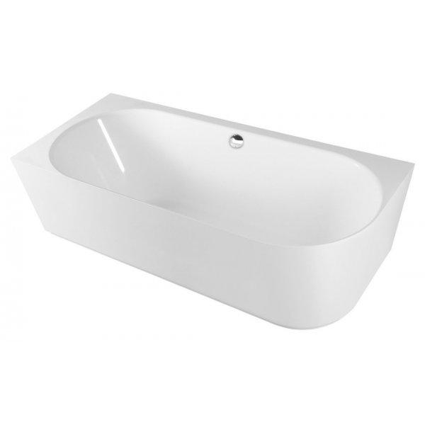 SUSSI L volně stojící vana litý mramor 160x70x49,5cm, bílá