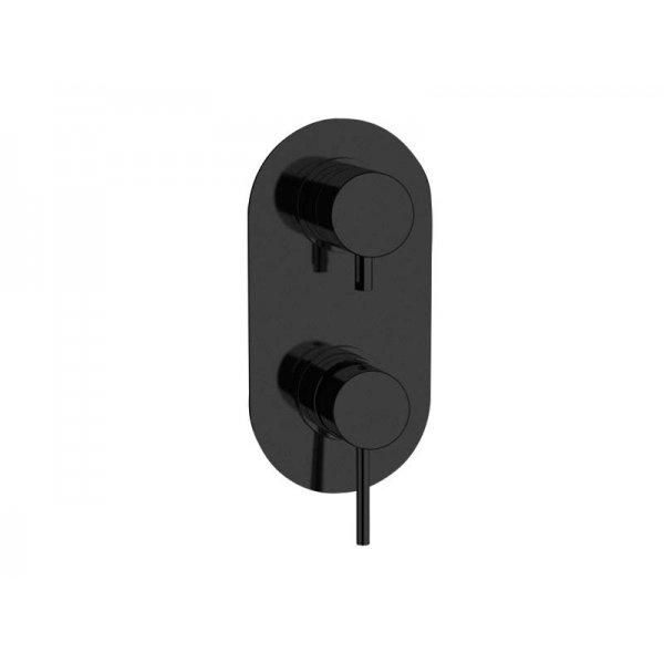 Baterie RONDO-X BLACK podomítková páková, 2 funkce