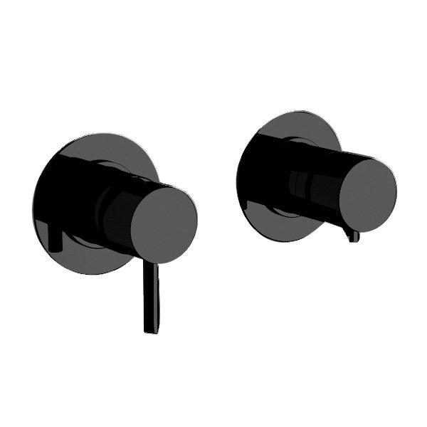 Baterie podomítková páková RONDO-X BLACK, 2 funkce