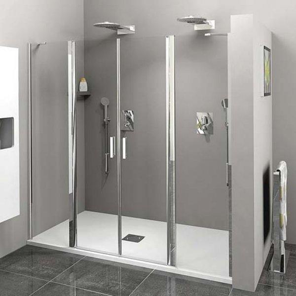 Sprchové dveře do niky ZOOM LINE s 2 pevnými stěnami 180 cm