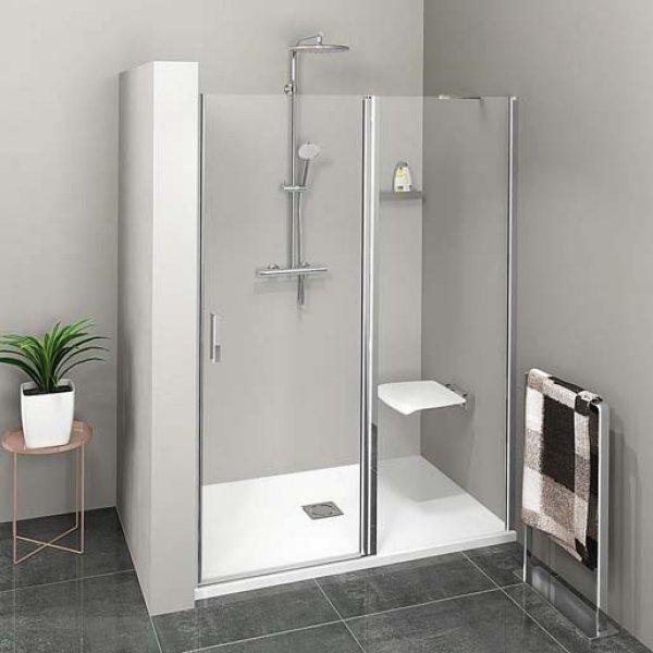 Sprchové dveře do niky ZOOM LINE s pevnou stěnou 140 cm